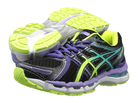 ASICS GEL-Kayano 19 (Black/Turquoise/Grape) Women's Running Shoes
