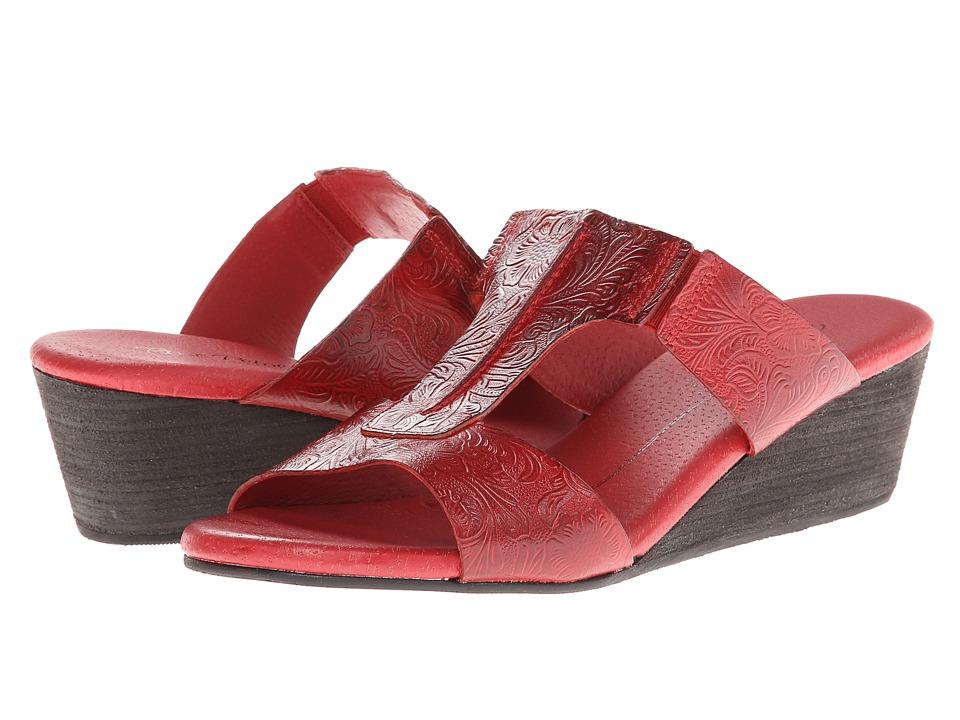 Rose Petals - Neru (Red Tooled) Women's Sandals