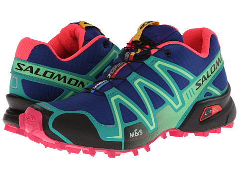 Salomon - Speedcross 3 (G Blue/Emerald Green/Hot Pink) Women