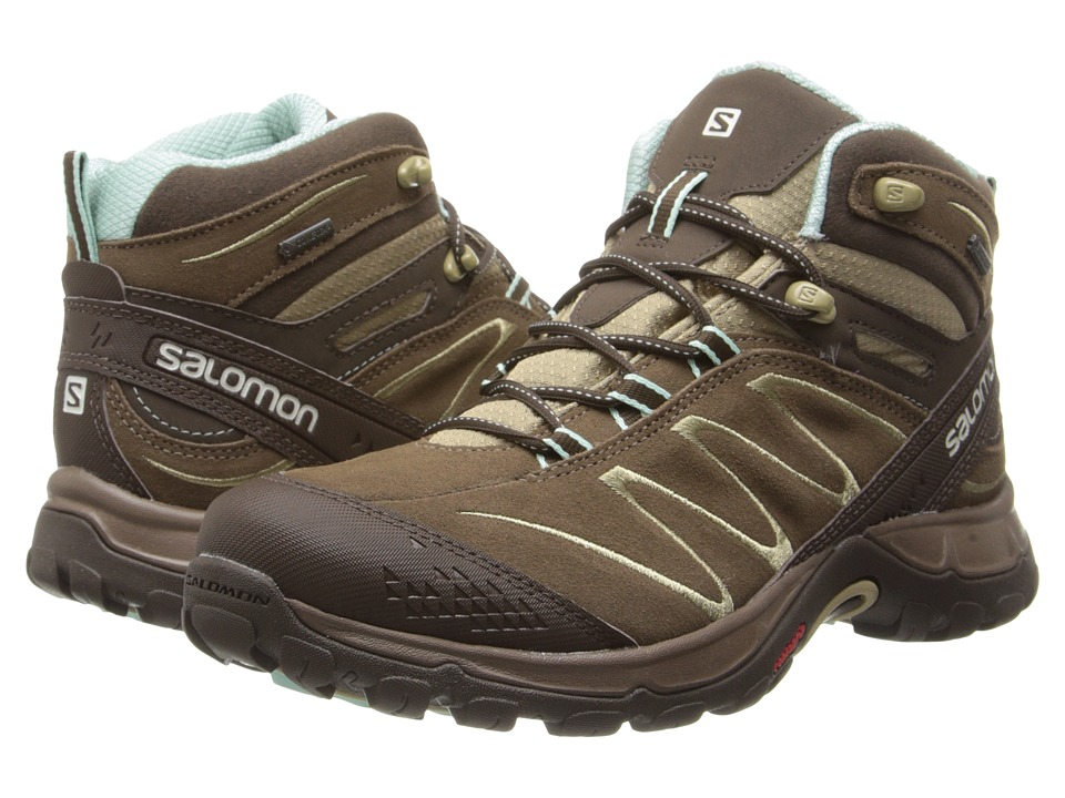 Salomon - Ellipse Mid LTR GTX (Burro/Abs Brown/Igloo Blue) Women's Hiking Boots