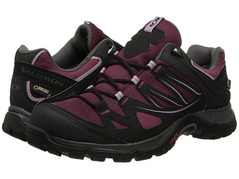 Salomon - Ellipse GTX (Bordeaux/Black/Crocus Purple) Women's Shoes