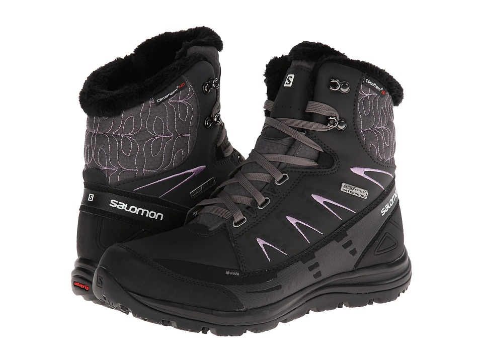Salomon - Kaina Mid CS WP (Autobahn/Asphalt/Crocus Purple) Women's Shoes