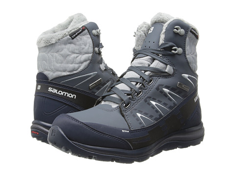 Salomon - Kaina Mid CS WP (Grey Denim/Deep Blue/Cane) Women