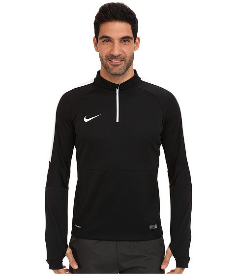 Nike - Squad Ignite L/S Midlayer Top (Black/White/White) Men's Long Sleeve Pullover