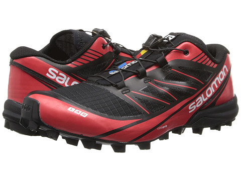 Salomon - S-LAB Fellcross 3 (Black/Black/Racing Red) Athletic Shoes