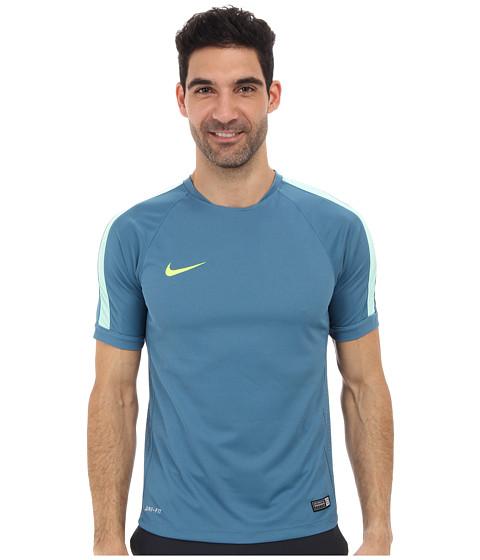 Nike Squad Flash S/S Training Top (RIft Blue/Medium Mint/Volt) Men's Short Sleeve Pullover