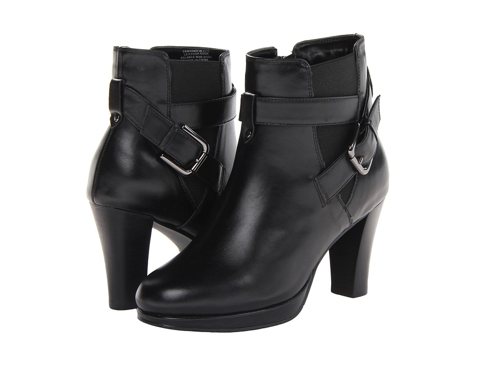 Fitzwell - Django Short Boot (Black Calf) Women's Zip Boots