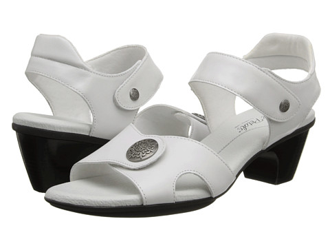 Rose Petals - Rex (White New Softee) Women's Sandals