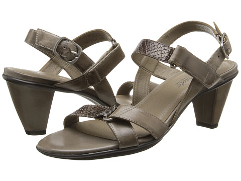 Rose Petals - Sam (Taupe/Taupe Snake) Women's Dress Sandals