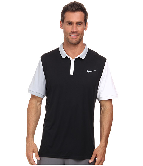 Nike - Advantage Polo Shirt (Black/White/Light Magnet Grey/Light Magnet Grey) Men's Short Sleeve Knit