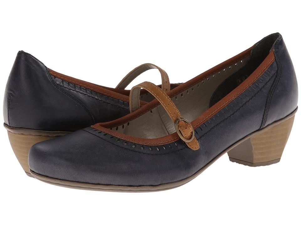 Rieker - 41762 Mariah 62 (Royal/Nuss) Women's Maryjane Shoes