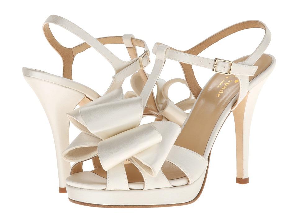 Kate Spade New York - Ribbon (Ivory Satin) High Heels