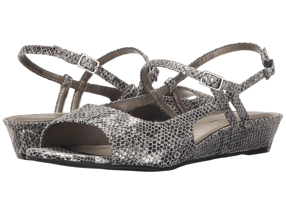 Rose Petals - Jillian (Black/White Snake) Women's Shoes