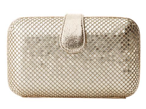 Jessica McClintock - Large Minaudiere w/ Tab (Light Gold) Handbags