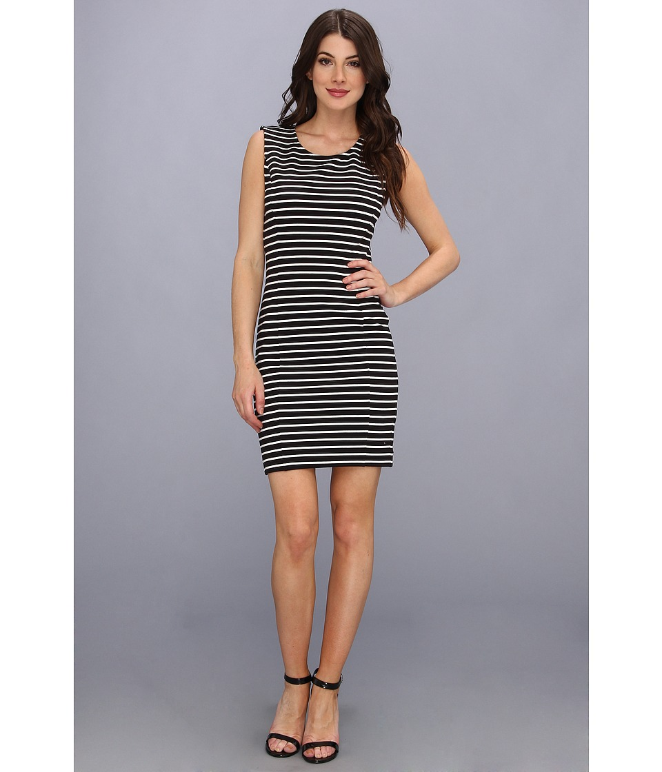 Juicy Couture - Stripe Ottoman Dress (Black/White Ottoman) Women's Dress