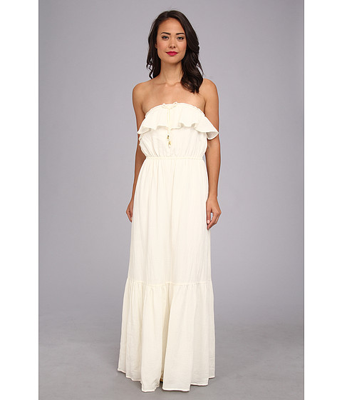 Juicy Couture - Ruffled Maxi Dress (Angel) Women's Dress