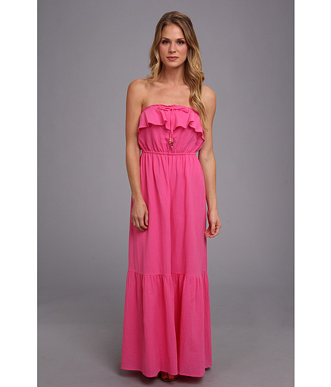 Juicy Couture - Ruffled Maxi Dress (Highlighter) Women
