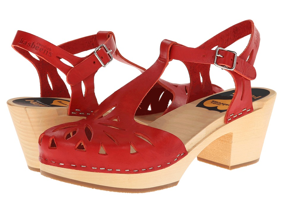 Swedish Hasbeens - Lacy Sandal (Red) High Heels