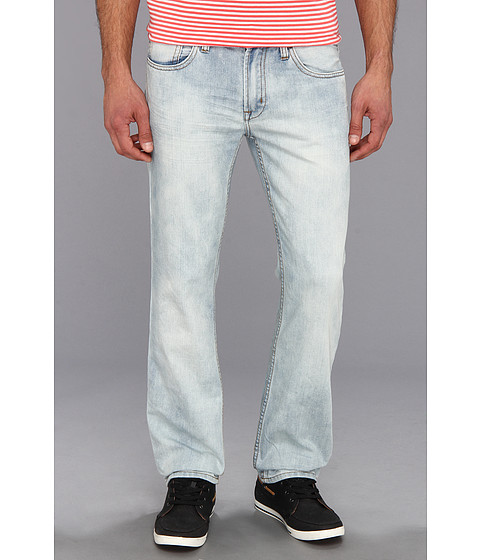Buffalo David Bitton - Six Slim Straight Lucan Blue Denim in Sanded Light (Sanded & Light) Men