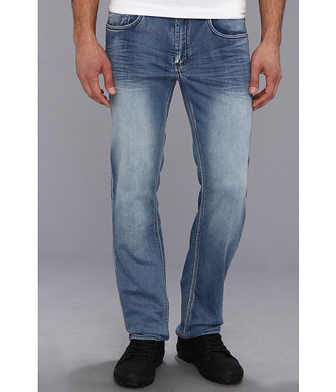 Buffalo David Bitton - Fred-X Slim Straight Caliciet Denim in Naturally Sanded (Naturally Sanded) Men