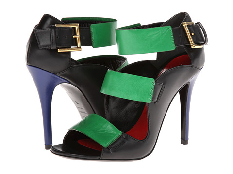 Alexander McQueen - Tri Buckle Sandal 105mm (Multi) High Heels