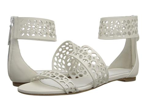 Alexander McQueen - Lasercut Flat Sandal (White) Women's Sandals