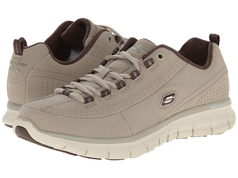 SKECHERS - Trend Setter (Stone/Brown) Women's Lace up casual Shoes