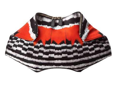 Alexander McQueen - De Manta Large Clutch (Feather Print) Clutch Handbags
