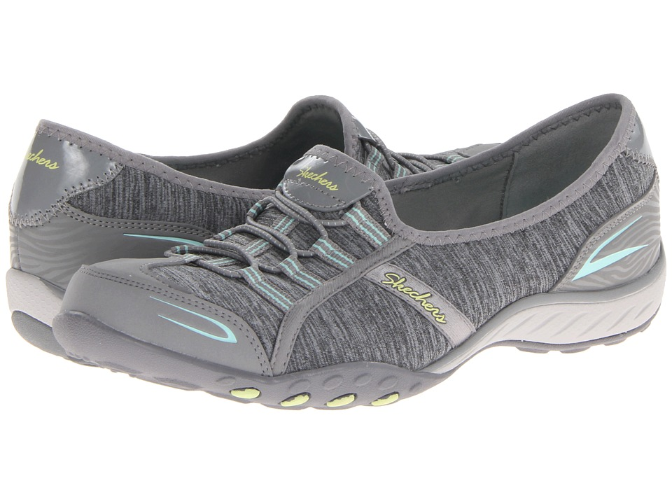 SKECHERS - Relaxed Fit - Good Life (Gray/Aqua) Women's Shoes