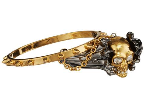Alexander McQueen - Skull Metal Claw Bracelet (Silver) Bracelet