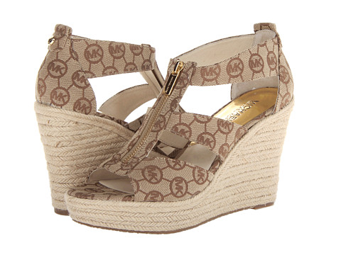 MICHAEL Michael Kors - Damita Wedge (Mocha) Women's Wedge Shoes