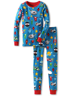 SALE! $16.99 - Save $18 on Hatley Kids Boys` Appliqu PJ Set (Toddler Little Kids Big Kids) (Blue) Apparel - 51.44% OFF $34.99