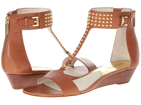 MICHAEL Michael Kors - Celena Wedge (Luggage Vachetta) Women's Sandals