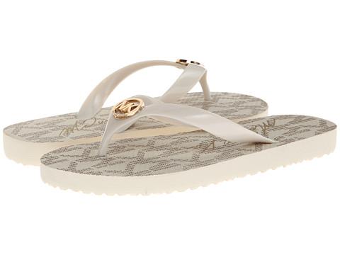 MICHAEL Michael Kors - MK Flip Flop (Vanilla Jet Set Print) Women's Sandals
