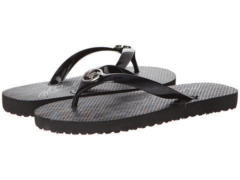 MICHAEL Michael Kors - MK Flip Flop (Black Jet Set Print) Women's Sandals