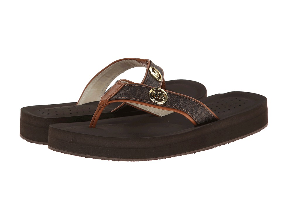 MICHAEL Michael Kors - Gage Flip Flop (Brown) Women's Sandals