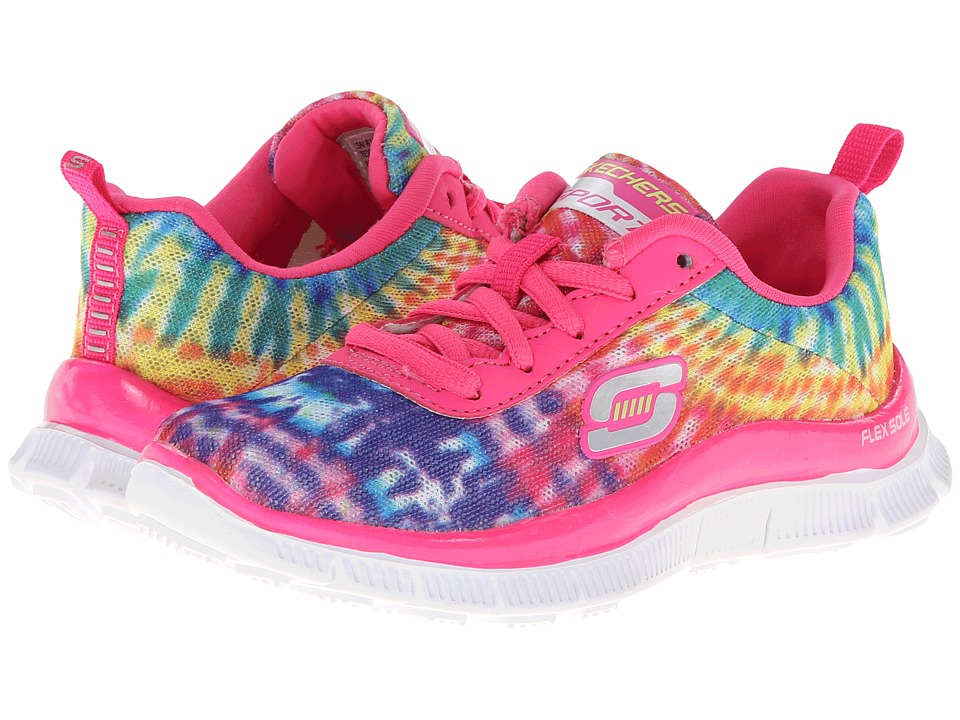 SKECHERS KIDS - Skech Appeal 81896L (Little Kid/Big Kid) (Neon/Pink/Multi) Girls Shoes