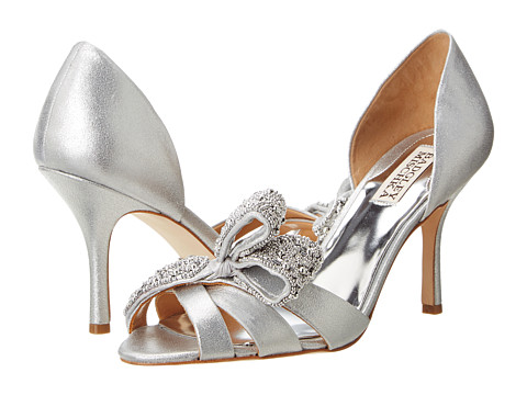 Badgley Mischka - Vita (Silver Antique Metallic Suede) Women's Dress Sandals