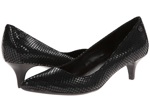 Calvin Klein - Nicki (Black Classic Python Print) Women's 1-2 inch heel Shoes