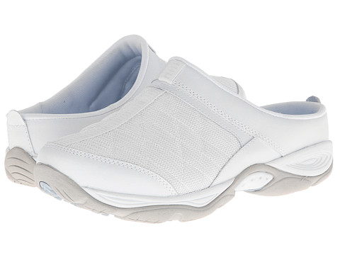 Easy Spirit - EZ Time (White Multi Leather) Women's Clog Shoes