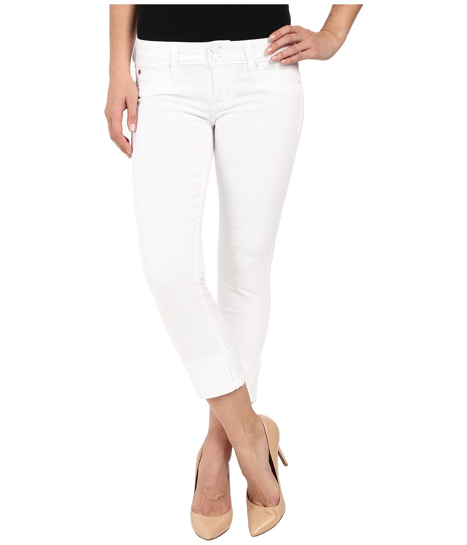 Hudson - Ginny Straight Crop w/ Cuff in White (White) Women's Jeans
