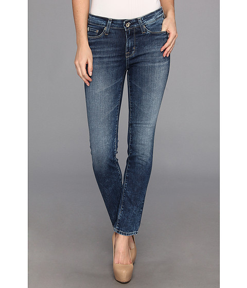 Big Star - Petite Brigette Low Rise Slim Straight Jean in 10 Year Ocean (10 Year Ocean) Women