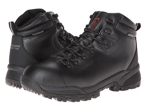 SKECHERS Work - Vostok (Black) Men's Shoes