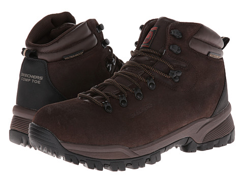 SKECHERS Work - Vostok (Brown) Men's Shoes
