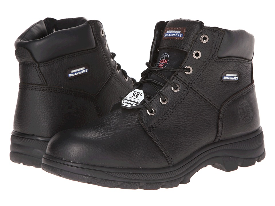 SKECHERS Work - Workshire - Relaxed Fit (Black) Men's Lace-up Boots