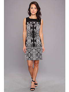 SALE! $36.99 - Save $42 on rsvp Dila Shift Dress (Black White) Apparel - 53.18% OFF $79.00