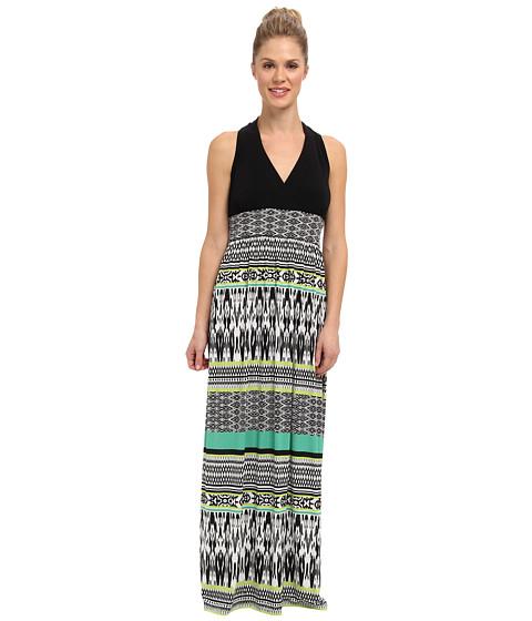 rsvp - Kyra Maxi Dress (Black/Green) Women's Dress