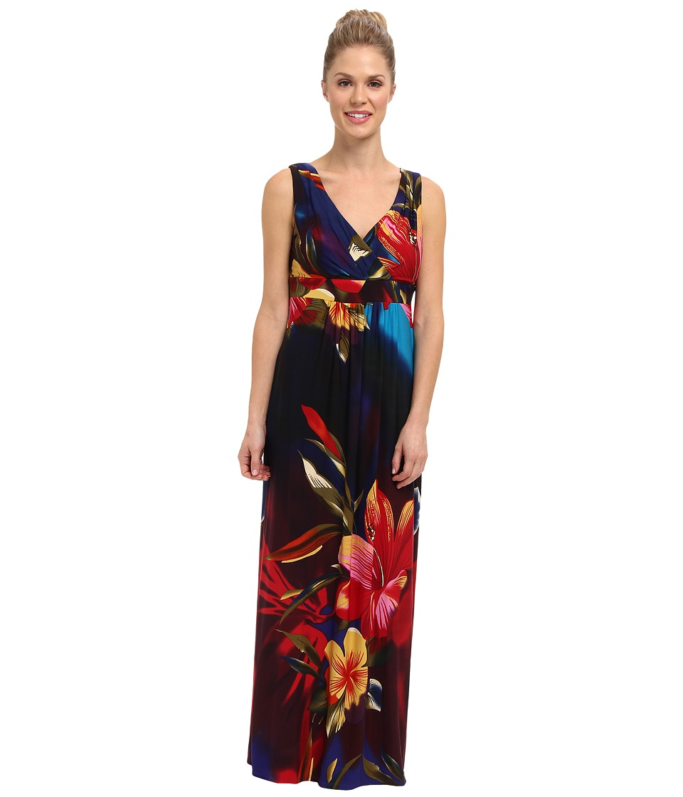 rsvp - Mckenna Maxi Dress (Red/Blue Multi) Women's Dress