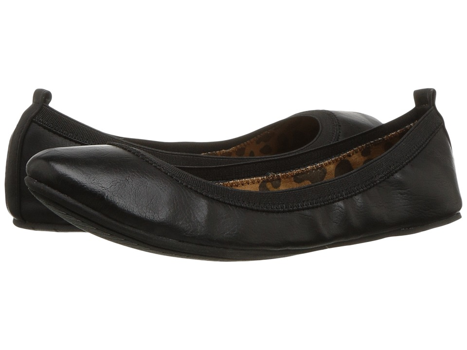 Kenneth Cole Unlisted - Whole Truth (Black Riding PU) Women's Flat Shoes