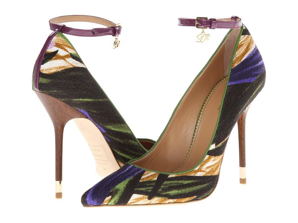 DSQUARED2 - A301 (Tessuto Verde Viola) High Heels